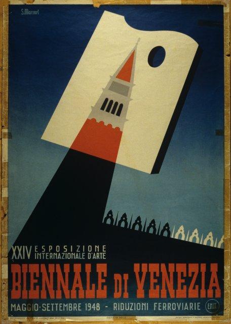 Manifesto poster XVIII International Exhibition Art Venice 1932 Biennale