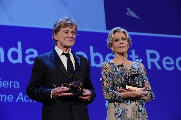 Jane Fonda and Robert Redford Golden Lions in Venice