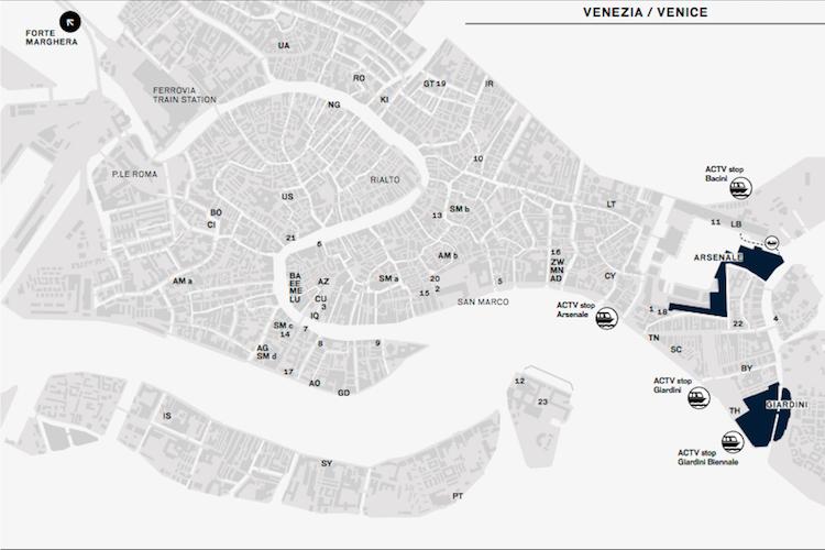 Biennale Arte 2017 La Di Venezia: Venice Biennale 2017 Map At Infoasik.co